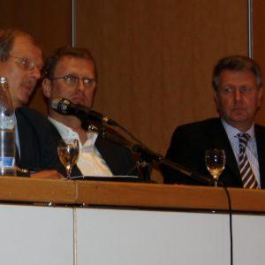 v.l.n.r.: Friedhelm Lipinski, MdB Oliver Kaczmarek (SPD), Thomas Müller  (KV Westfalen/Lippe)