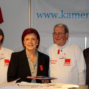Info-Stand SPD Kamen in Berlin