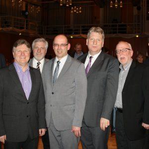 v.l.n.r.: Oliver Kaczmarek, Rüdiger Weiß, Hermann Hupe, Rainer Schmeltzer, Hartmut Ganzke, Wolfram Kuschke, Michael Makiolla