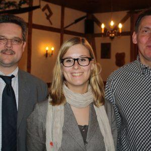 Michael Krause mit den neuen Vorstandsmitgliedern Kerstin Limbacher, Geschäftsführerin und Nachfolgerin von Uli Klein, Uwe Zühlke, stellv. Schatzmeister