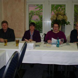 v.l.n.r. Rüdiger Weiß, Bettina Schwab-Losbrodt, Annette Mann (Vorsitzende, Petra Hartig (stellv. Vorsitzende)