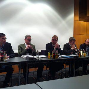 v.l.n.r. Ulrich Horning, Reiner Brüggemann, Daniel Heidler, Andreas Feld und Marius Fliegner