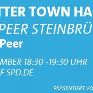 Twitter Town Hall mit Peer Steinbrück #fragPeer