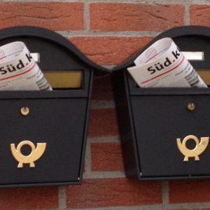 Der Südkurier steckt frisch gedrukt im Postkasten.