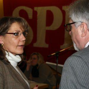 Marion Dyduch, Fraktionsvorsitzende und Hermann Hupe, Bürgermeister