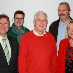 v.l. Rüdiger Weiss, Christine Hupe, Hans-Dieter Heidenreich, Martin Wiggermann und Petra Hartig