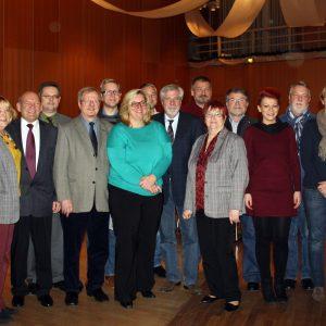 Gruppenbild mit Bürgermeister und den Direktkandidaten der Kamener SPD für die Kommunalwahl am 25. Mai 2014