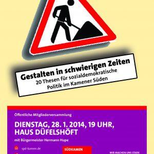 Plakat für die Veranstaltung