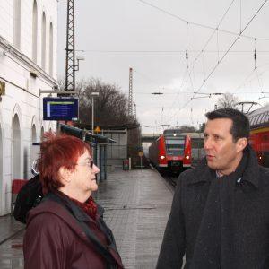 Ortstermin Renate Jung und Uwe Liedtke