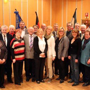 SPD Fraktion mit Bürgermeister Hermann Hupe