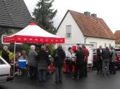 OV-Heeren-Werve Infostand am 07.05.2014 Annette Mann mit Bürgermeister Hupe