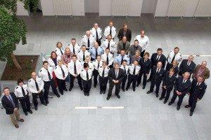 Die neuen Beamten der Kreispolizei Unna