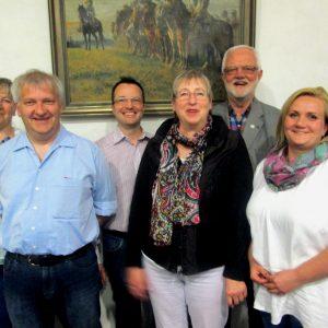 Der neue geschäftsführende Vorstand (v.l.n.r.): Angelika Wollny, Klaus Kasperidus, Carsten Diete, Jutta Maeder, Jochen Müller, Carina Feige und Martin Köhler.